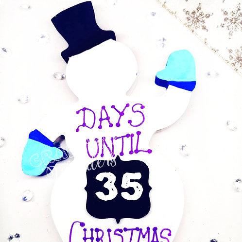 Snowman countdown to christmas