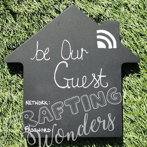 Wi Fi freestanding plaque