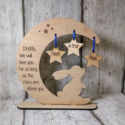 Loving children Moon and Stars