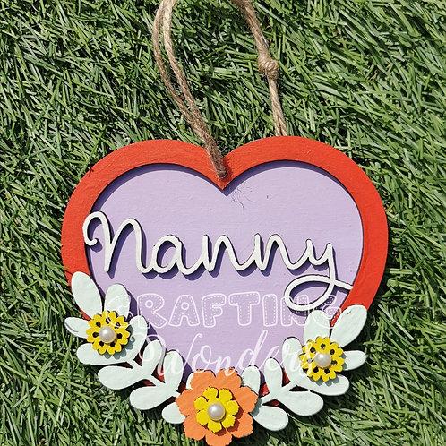 Grandma hanging heart