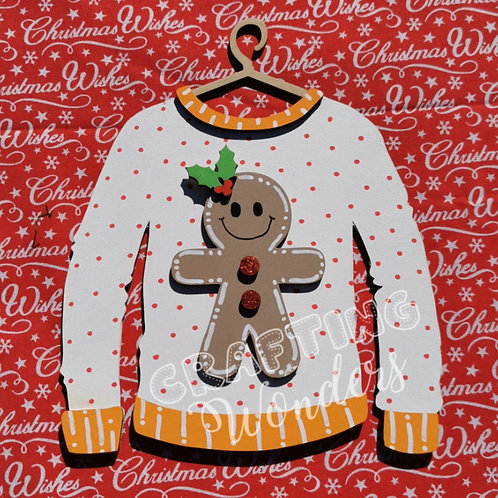 Gingerbread Christmas Jumper Decoration