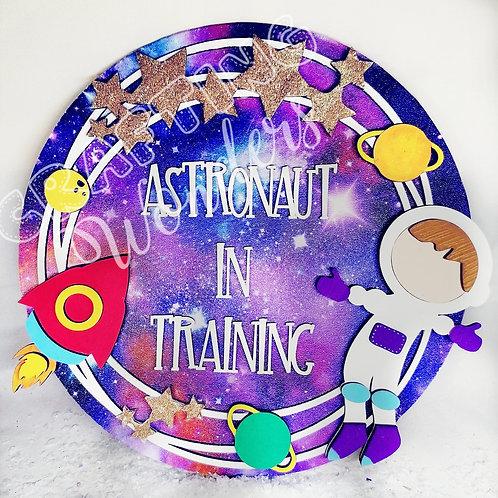 Astronaut in training plaque