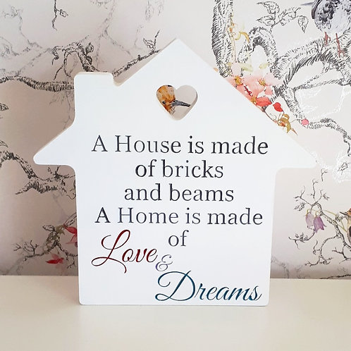 Freestanding Home Plaque