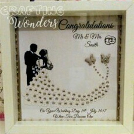 Wedding day gift frame