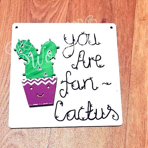 Cactus Pun Plaque