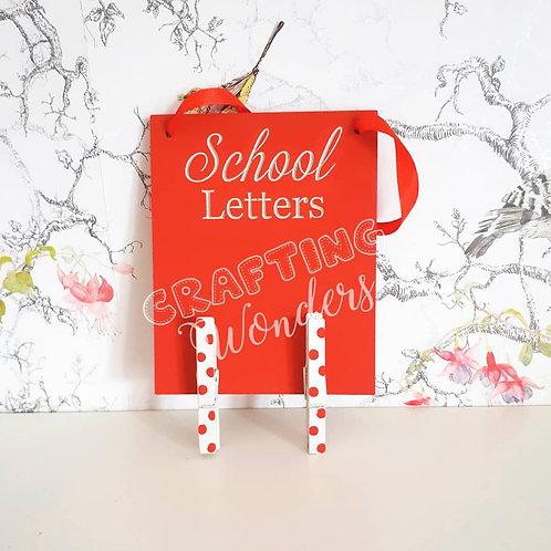 School Letter Plaques