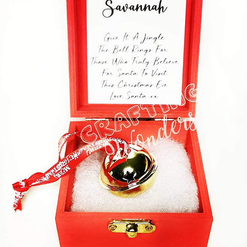 Personalised polar express believe gold bell