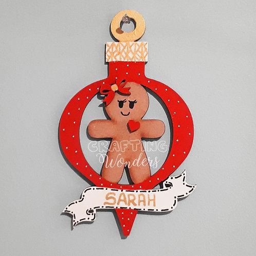 Personalised Gingerbread Man/Woman