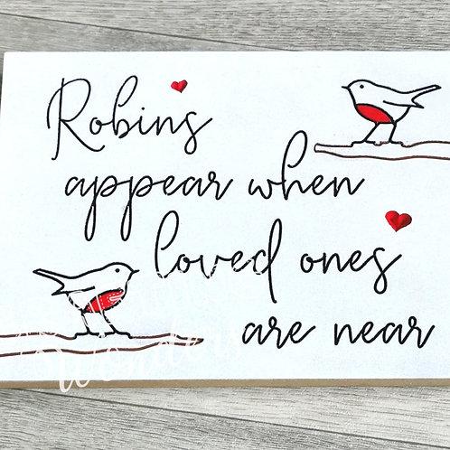 Robin Freestanding Plaque