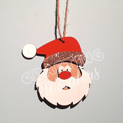 Personalised Santa Tree Decoration