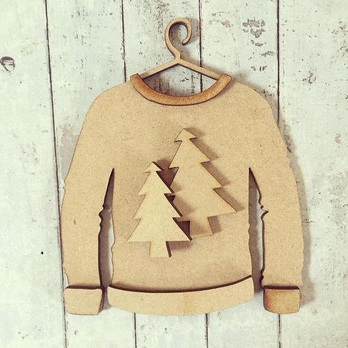 Jumper Double Christmas Tree Decoration