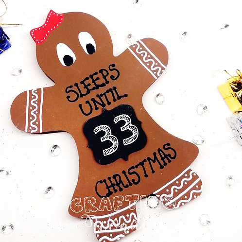 Gingerbread Lady countdown to Christmas