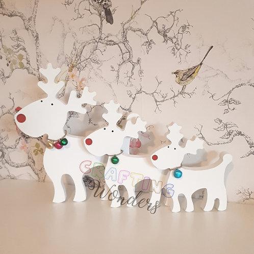 Freestanding Family Reindeers