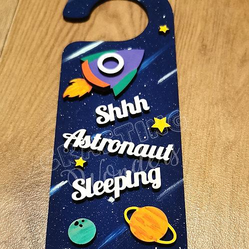Astronaut space theme door hanger