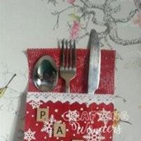 personalised cutlery holder