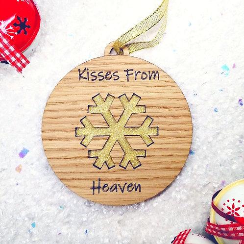 Kisses from heaven Oak Veneer baubles