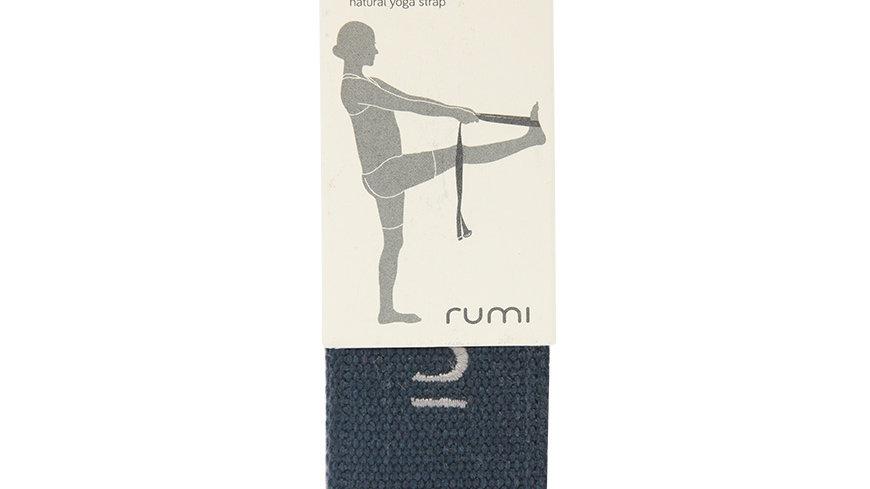 Rumi Yoga Strap D-Ring Cotton 8 feet - Midnight
