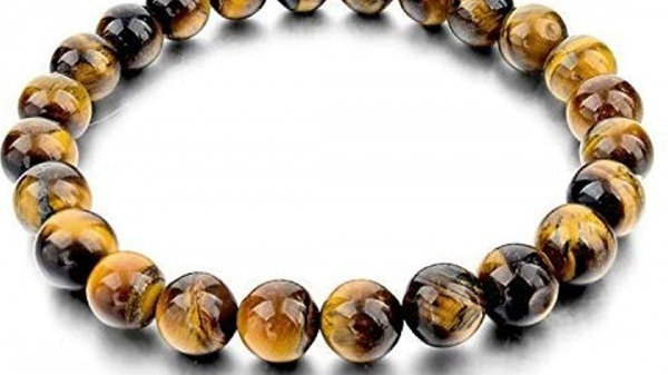 Laverne - Tiger's Eye 8MM Grade (A) Natural Round Beads