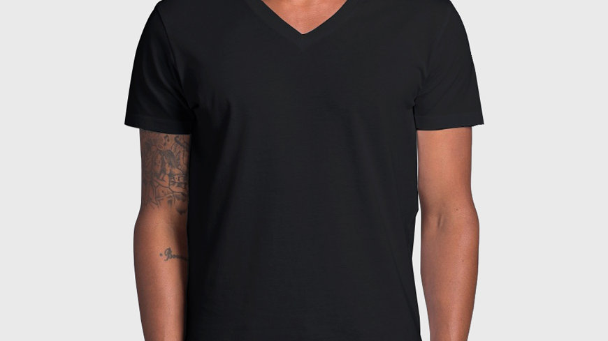 Rumi Men's Sun Tee Short Sleeve V-Neck – Black