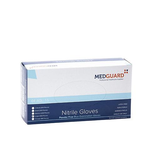Medguard Nitrile Powder Free Exam Glove - Dark Blue (180 - 200)