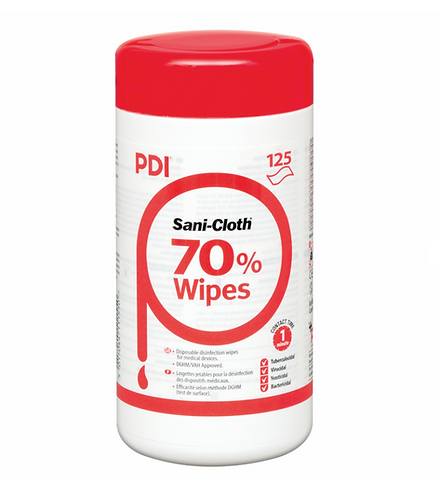 PDI Sani-Cloth 70% Alcohol Wipes | 125 Wipes Per Canister
