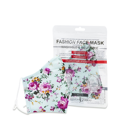 Fashion Face Masks Adults  Floral (100% Cotton)