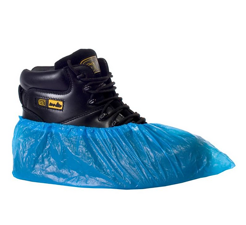 CPE DISPOSABLE OVERSHOE - PACK OF 100 16""