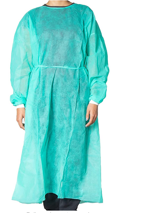 10 x Disposable Waterproof Medical Gowns