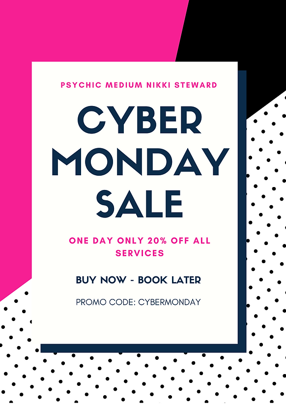 Dark Blue and Pink Cyber Monday Coupon F