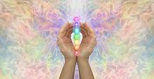 Sacred Chakras Healing Banner Concept -