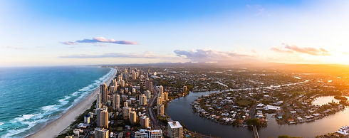 Panorama of Southern Gold Coast looking