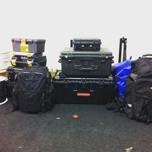Cable-cam packed and ready for the Red B