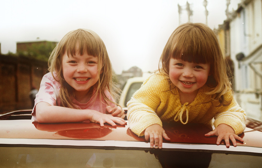 Maisie and Evie Prendergast playing sisters in short film Sylvia