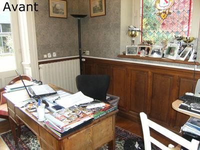 Bureau avant travaux et relooking
