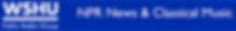 WSHU NPR Station Logo