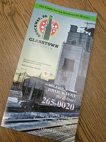 Glasstown Pizzeria in Brockway now open.