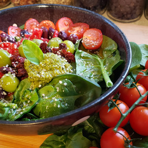 Mediterranean-Inspired Plant-Based Buddha Bowl (vegan & gluten-free)