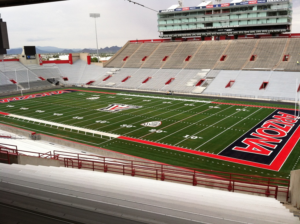 Artificial Turf Football Field at Arizona Stadium (U of A) - Constructed by SiteWorks