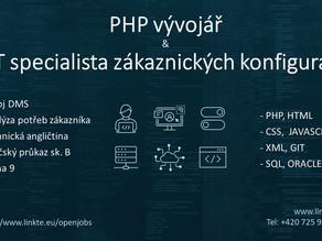 PHP vývojář & IT specialista zákaznických konfigurací