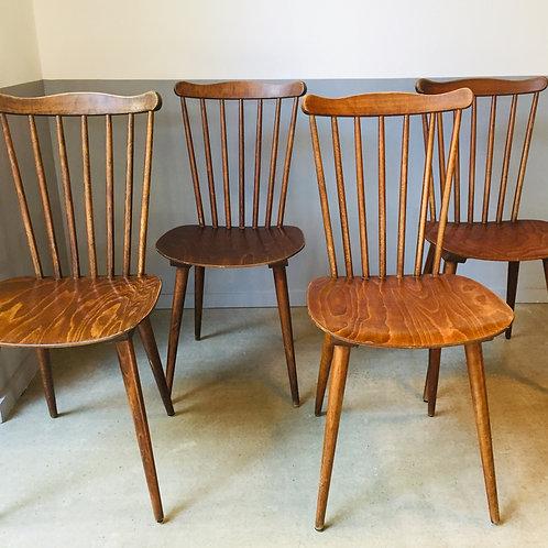 Lot 4 chaises bistrot Baumann