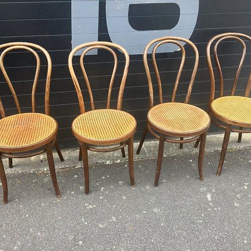 Lot de chaises Radomsko cannées