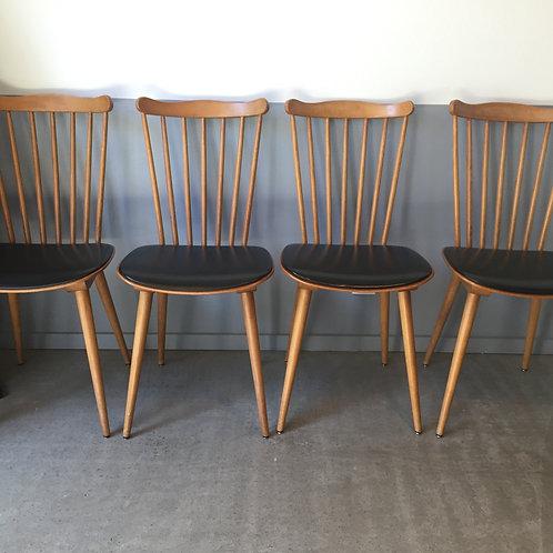 """Set de 4 chaises Baumann """"Menuet"""""""