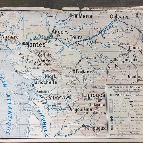 Carte géo Ouest et Centre ouest