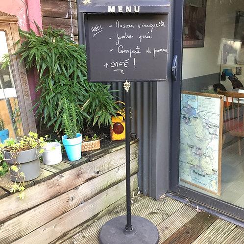 Panneau de menu restaurant