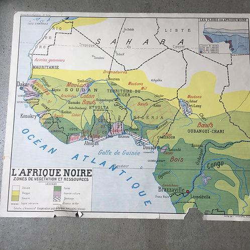 Carte géo Afrique Noire