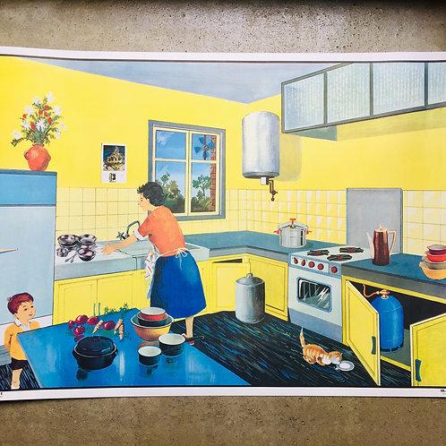 """Affiche """"La cuisine/La rue"""""""