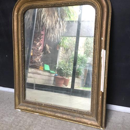 Miroir doré style Louis Philippe