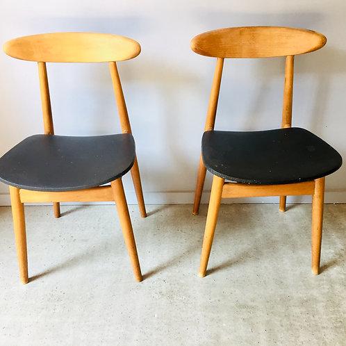 Duo de chaises style Guariche