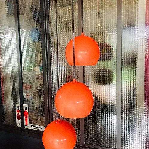 """Suspension 3 boules """"seventies"""""""