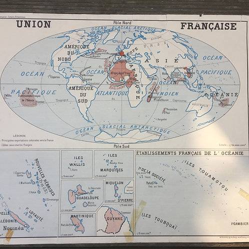 "Carte ""Union française/empire britannique"""